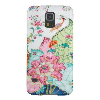 Antique chinoiserie china porcelain bird pattern case for galaxy s5