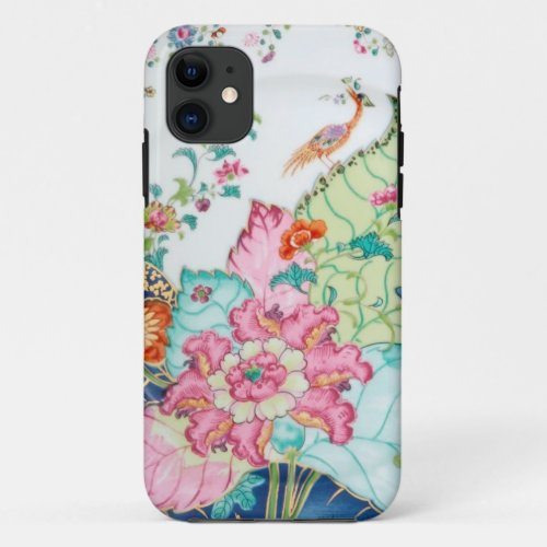 Antique chinoiserie china porcelain bird pattern Phone Case