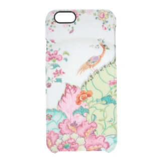 Antique chinoiserie china porcelain bird pattern clear iPhone 6/6S case