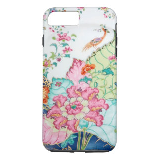 Antique chinoiserie china porcelain bird pattern iPhone 8 plus/7 plus case
