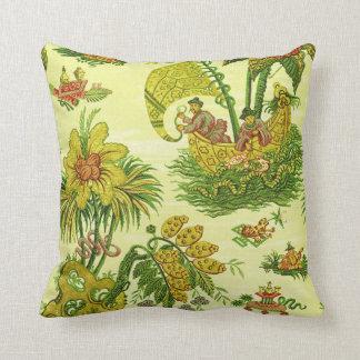Antique Chinoiserie Wallpaper Pillow
