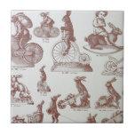 """Antique Chocolate Mold Catalog Easter Bunnies Page Ceramic Tile<br><div class=""""desc"""">Antique Chocolate Mold Catalogue Page makes a wonderful and whimsical tile</div>"""