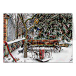 antique, holiday, christmas, old, fashioned, snow,