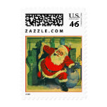 Antique CHRISTMAS HOLIDAY Chimney SANTA Stamps