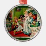 Antique Christmas Illustration Christmas Ornament