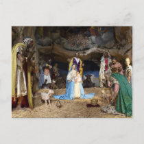 Antique Christmas Nativity Scene Holiday Postcard