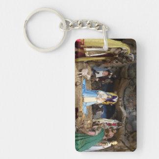 Antique Christmas Nativity Scene Keychain