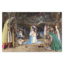 Antique Christmas Nativity Scene Tissue Paper
