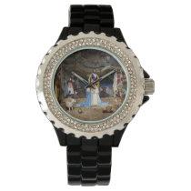 Antique Christmas Nativity Scene Wrist Watch
