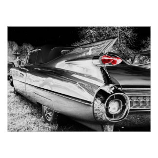 Antique Chrome Car Poster