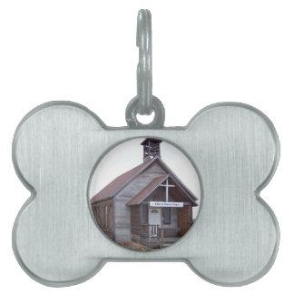 Antique Church Pet ID Tag