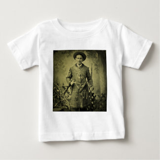 Antique Civil War Soldier Confederate Tintype Infant T-shirt