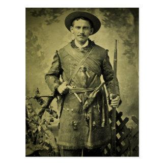 Antique Civil War Soldier Confederate Tintype Postcard