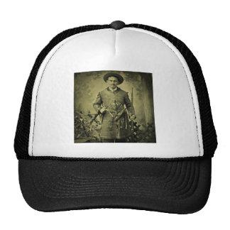 Antique Civil War Soldier Confederate Tintype Trucker Hat