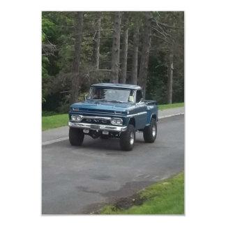 Antique classic Blue GMC Pickup Truck Card