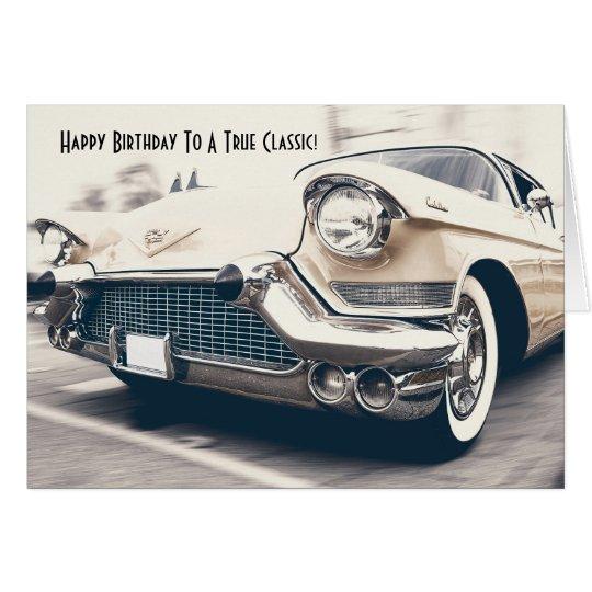 Antique Classic Car Fan Birthday Card Zazzle