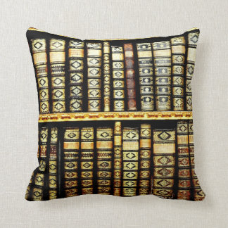 Antique Classic Leather books Pillow