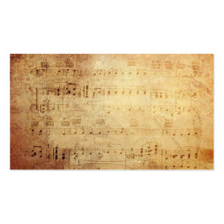 Antique Classic Music  Notes Double-Sided Standard Business Cards (Pack Of 100)
