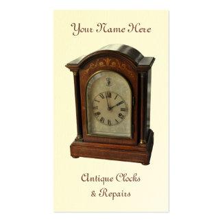 Antique clock business card