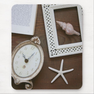 Antique clock frame shell book mouse pad