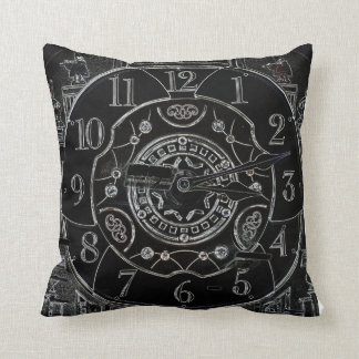 Antique clock pillow