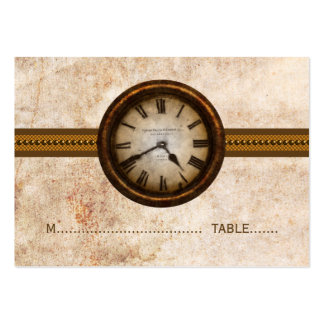 Antique Clock Place Card, Brown Large Business Cards (Pack Of 100)