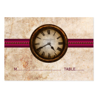 Antique Clock Place Card, Fuchsia Large Business Cards (Pack Of 100)