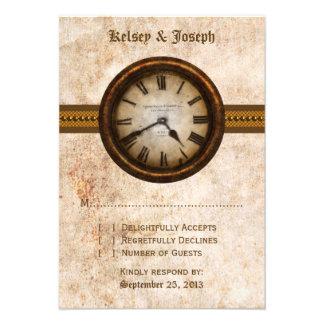 Antique Clock Response Card, Brown