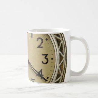 Antique clock watch time management work mug