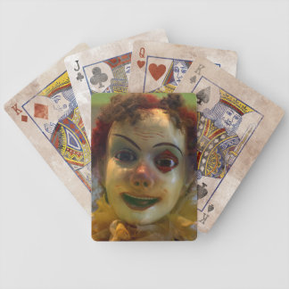 antique clown bicycle playing cards