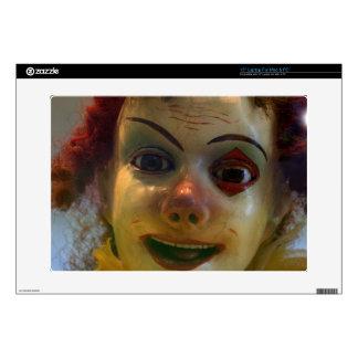 antique clown laptop skins