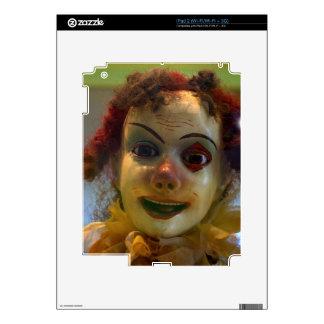antique clown iPad 2 skin