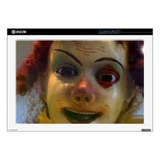 "antique clown skin for 17"" laptop"