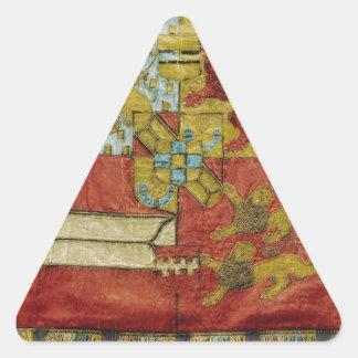 Antique coat museum piece triangle sticker
