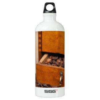 Antique Coffee Bin/Grinder Aluminum Water Bottle