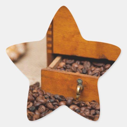 Antique Coffee Bin/Grinder Stickers