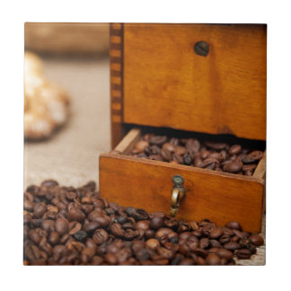 Antique Coffee Bin/Grinder Tile