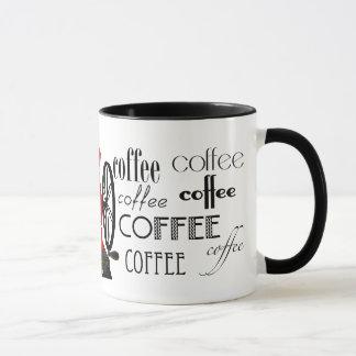Antique Coffee Grinder Mug