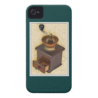 Antique Coffee Mill on  Crackle Background Case-Mate iPhone 4 Case