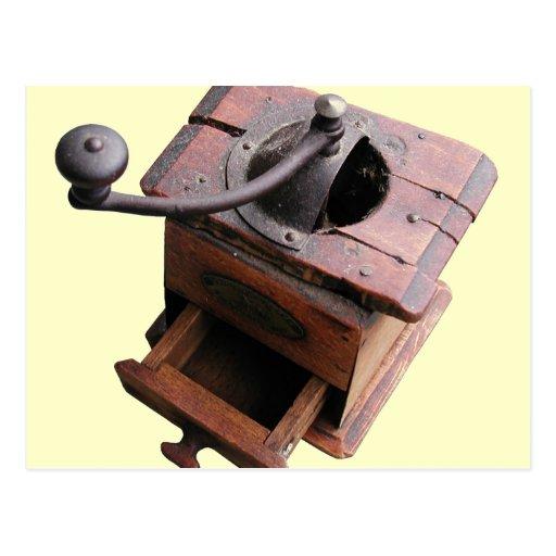 Antique Coffee Mill Postcard