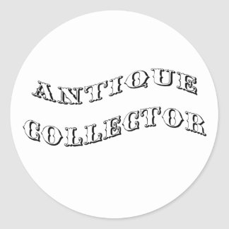 antique collector classic round sticker