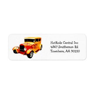 Antique Collector  HotRod Car Return Address Label