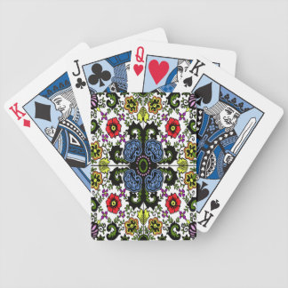 antique color dutch floral bicycle playing cards