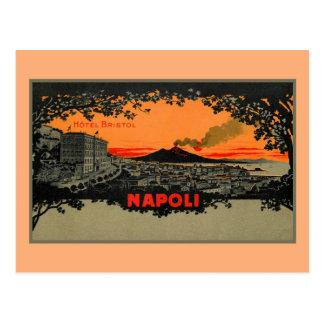 Antique color litho Hotel Bristol Naples Napoli Postcard