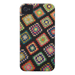 Antique Colorful Granny Squares Classic Pattern Case-Mate iPhone 4 Case