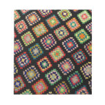 Antique Colorful Granny Squares Classic Pattern Scratch Pads