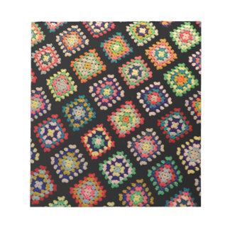 Antique Colorful Granny Squares Classic Pattern Scratch Pads