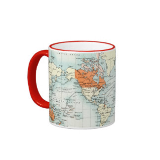 Antique Commercial Map of the World Ringer Mug