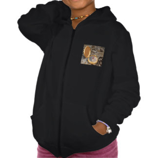 Antique Compass On A Map Girls Hoodie