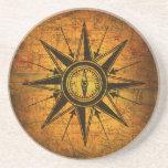 Antique Compass Rose Beverage Coasters